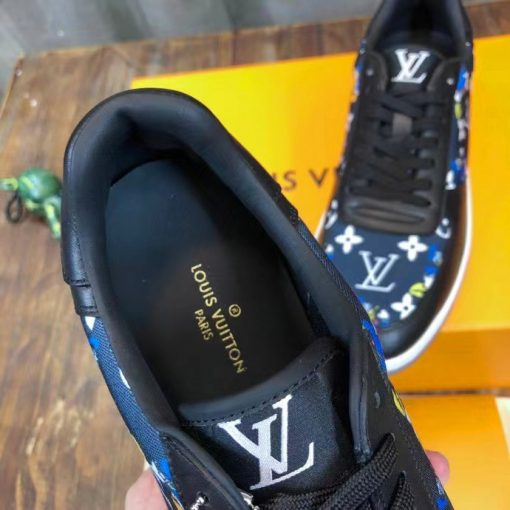 Chi tiết bên trong giày nam LV siêu cấp