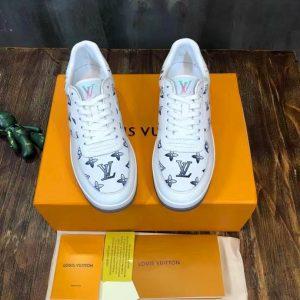 Mẫu giày sneaker LV nam hoa bông siêu cấp đẹp 2021