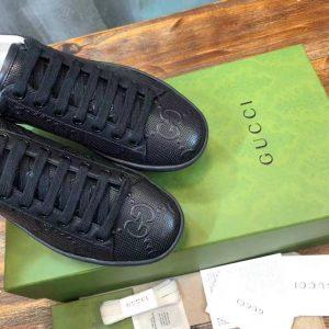 Mũi giày Gucci nam màu đen siêu cấp